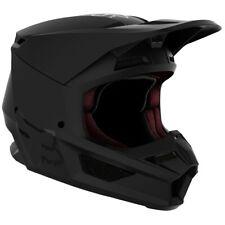 Fox Racing V1 Matte Black Youth DOT Dirt Bike Off Road MX Motocross Helmets