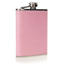 8oz Stainless Steel FLASK Screw Cap Hip Pocket Alcohol Liquor Whiskey Party Pink