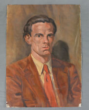 WWII Oil Painting Portrait of a Man