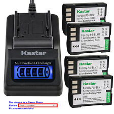 Kastar Battery LCD Quick Charger for Olympus BLM-1 BLM01 Camedia C5060 Wide Zoom