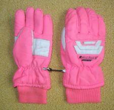 Vtg GORDINI Bright Neon Pink Winter GORE-TEX GLOVES Ski Snow Board Women's SMALL