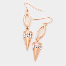 Rose gold spike crystal earrings
