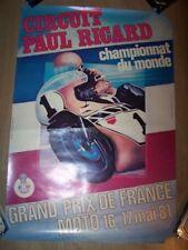 06 Affiche/Poster paul ricard Championnat monde grand prix de france moto 1981