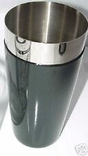 COCKTAIL SHAKER MIXING TIN Bartending Flair Stainless Black Vinyl Coated Bartend