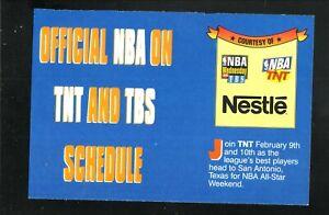 TBS/TNT Televised NBA Schedule--Nestle