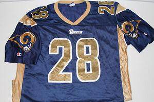 NEW Champion Vintage St Louis Rams Marshall Faulk Champion Jersey Size 44 Large