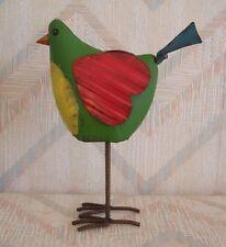 Bird Folk Art Figurine Regal Art Folk Bird Decor Green
