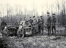 ANTIQUE REPRO WW1 8X10 PHOTOGRAPH MACHINE GUN MOUNTED HARLEY DAVIDSON MOTORCYCLE