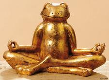 GENIALER FROSCH RELAX IN GOLD 28cm FROSCHFIGUR FIGUR OHM YOGA JOGA RELAXFROSCH