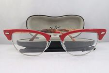 Ray-Ban RB 5154 5651 Clubmaster Red/Logo New Authentic Eyeglasses 51mm w/Case