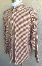 Awesome Barneys New York Men's XL Shirt Brown Made In Italy A22