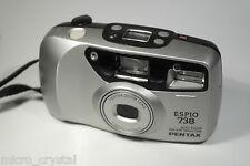 Vintage Pentax ESPIO 738 38-70mm point&shoot camera camara + pouch + battery