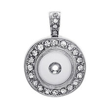18mm Charm Crystal Alloy Pendant for Fit Noosa Necklace Snap Chunk Button A85