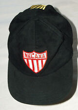 Club Necaxa Mexico Embroidered Sewn Black Soccer Futbol Adjustable Back Hat Cap