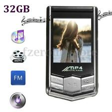 32GB 32G 1.8'' MP4 MP3 Video Music Player LCD Screen Slim FM Radio Record Movie
