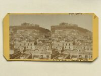 Panorama Da Napoli Foto PL38 Stereo Vintage Albumina c1865