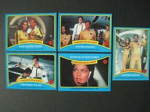 MOONRAKER CARDS Your Pick Singles Complete your James Bond 007 Set 1979 Topps