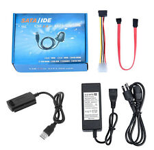 USB 2.0 to 2.5/3.5/5.25 IDE SATA Hard Drive Adapter HDD Converter Cable (US)