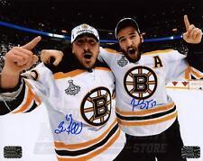 Patrice Bergeron Brad Marchand Bruins Signed Autographed Cup Celebration 16x20