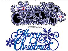 Merry Christmas Metal Cutting Dies Stencils Scrapbooking Embossing Paper Crafts