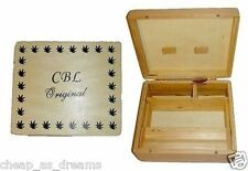 CBL Wooden LARGE Rollbox Rolling Roll Stash Snuff Tobacco Box Smoking