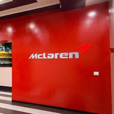 McLaren Logo Letters Colors Sign Garage Brushed Silver Aluminum Gift 8 FT