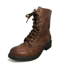 Summer Casual Lace up Faux Leather Ankle Winter BOOTS UK Sz 8 9 3 4 5 6 7 Brown UK 5.5 ( Size Tag CN US 8)