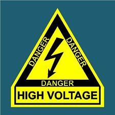 HIGH VOLTAGE TRIANGLE DECAL STICKER RALLY DRIFT MOTORSPORT JDM CAMS RACING