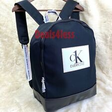 Calvin Klein Backpack Luggage Bag Gym Weekender Traveler Holdall Mens Black NEW