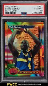 1993 Finest Refractors Chris Webber ROOKIE RC #212 PSA 10 GEM MINT
