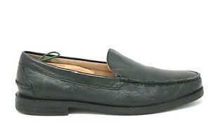 POLO RALPH LAUREN Kristofer Mens Black Leather Moc Toe Loafers Size 12 D