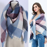 Lady Women Fashion Blanket Tartan Scarf Wrap Shawl Plaid Cozy Checked Pashmina