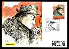 Italy 2020: Federico Fellini-Official Postcard Post it. - cancellation Rimini