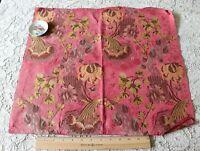 "Antique Floral 18thC (c1770) French Silk Metallic Brocade Sample Fabric~19""X20"""