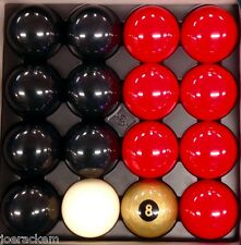 NEW Casino Pool Ball Set - 49ers - BLACK & RED - 16 Balls - FREE US SHIP