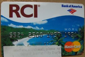 Expired RCI (Bank of America) credit card exp. 2013 (A176)