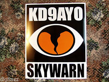 Large SKYWARN Magnetic Custom Callsign NWS Storm Spotter Sign ARES RACES ecom
