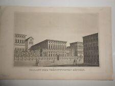 1833 Acquaforte Genova Palazzo della Regina Madre Liguria