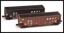Full Throttle Z Scale Red/Black BNSF 100 Ton Hopper Set
