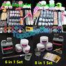 1 Set Full Acrylic Powder Nail Art Tool Set Tips Brush Manicure Tool Kit DIY UK!