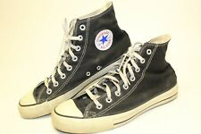 Vintage Converse Mens 10 Black Canvas Lace Up High Top Sneakers Made in USA