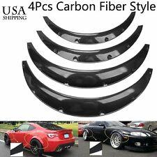 4 PCS Universal Carbon Fiber Style Car Auto Polyurethane Flexible Fender Flares