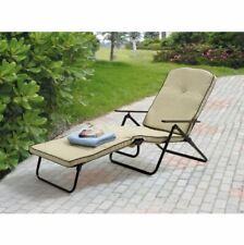 Outdoor Folding Chaise Lounge Padded Chair Seat Deck Garden Furniture Beach Yard