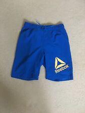 Boys Reebok Blue Unlined Sports Shorts Age 11 -12