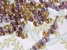 Teardrop Beads,Glass Drops, 4x6mm Drops,Purple teardrops, Picasso beads #740A