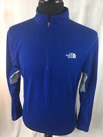 The North Face Mens Medium 1/4 Zip Pullover Track Shirt Long Sleeve Vapor Wick