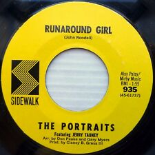 Portraits girl Pop rock Vocal Fuzz 45 Sidewalk Over The Rainbow / Runaround F174