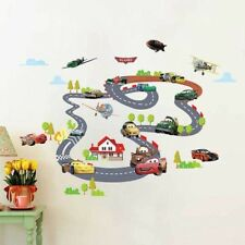 Cartoon Cars Circle Race Track Vinyl Removable Wall Sticker Kids Room Decal CCR