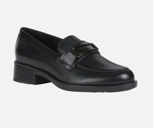 Geox Respira Resia Loafers Black UK 6 EU 39 Work School Breathable RRP £120