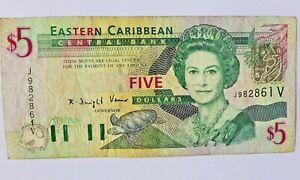 Originale Banknote  ,Eastern Caribbean,20. Jhdt.